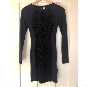 Black H&M Fitted Dress Size 4